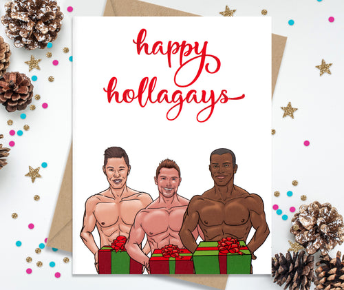 Happy Hollagays - Funny Holiday Cards