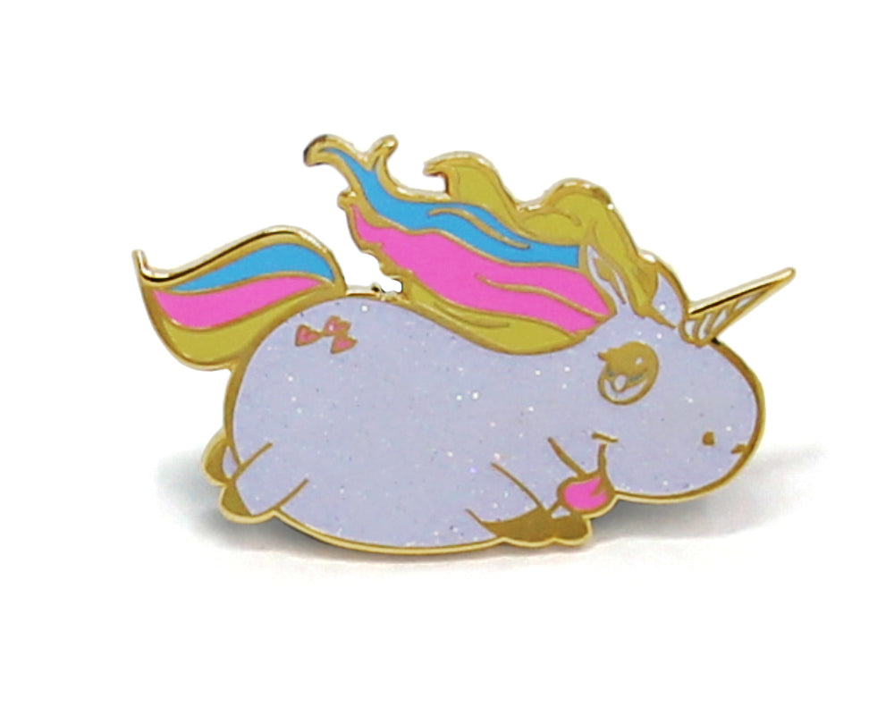 Glitter Unicorn Enamel Pin