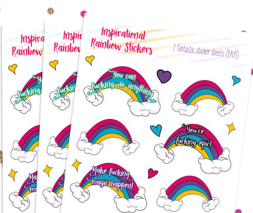 Inspirational rainbows stickers