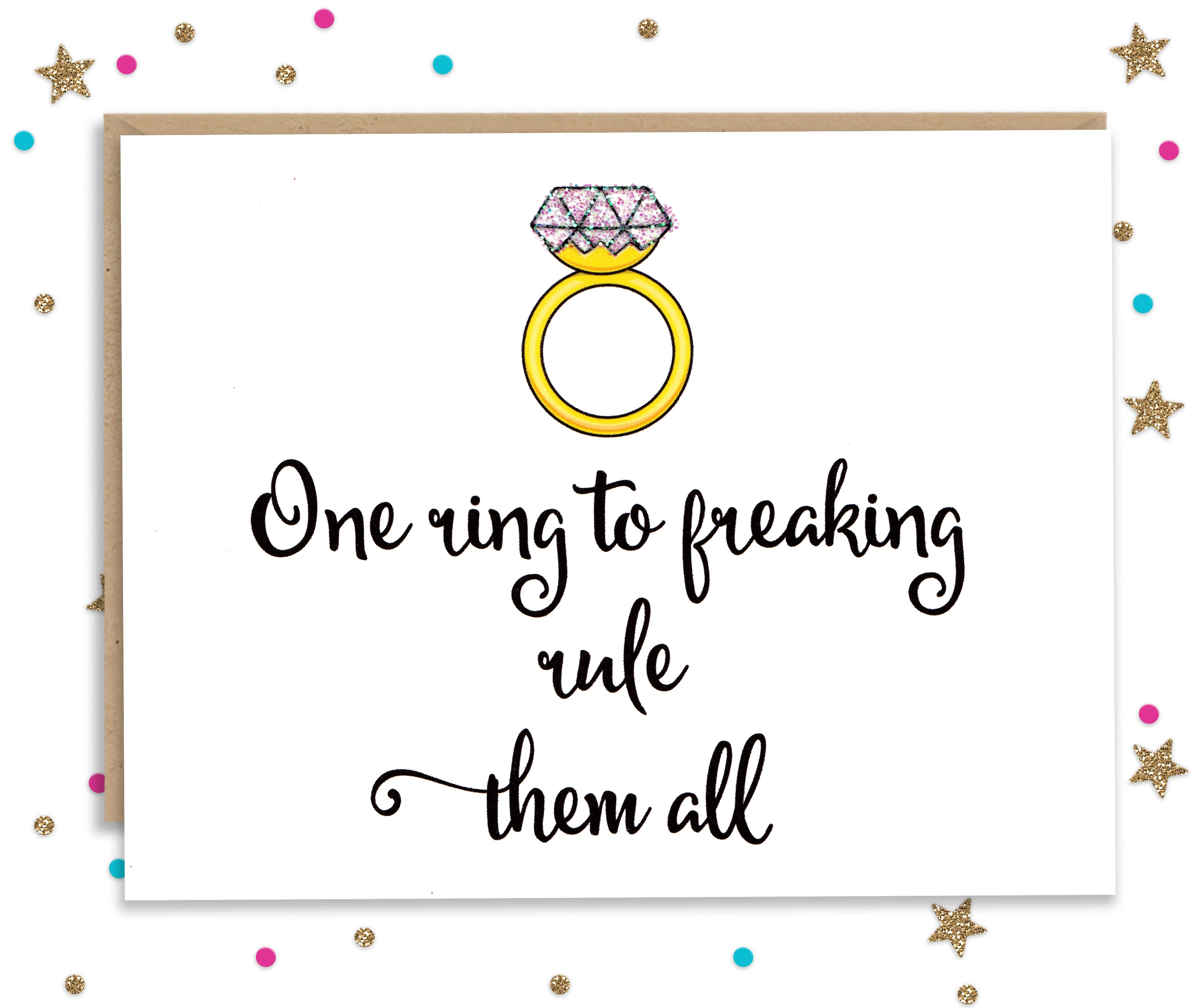 One Ring To Rule Them All Wedding Congratulations Card