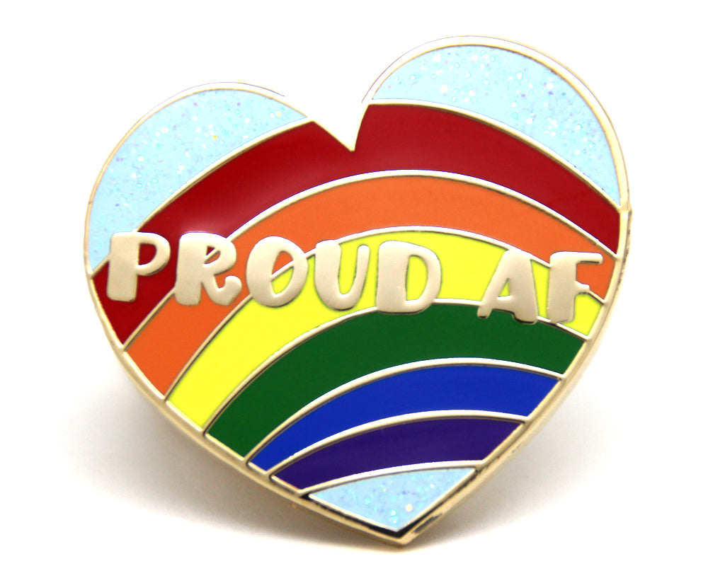SECOND SALE Proud As Fuck Enamel Pin