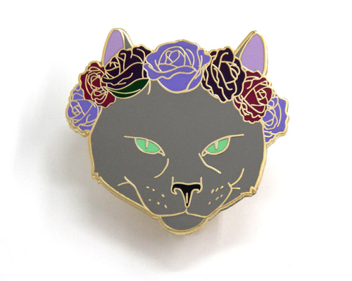 SECOND SALE Russian Blue Cat Enamel Pin