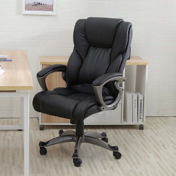 High Back Executive Black PU Leather Home Office Ergonomic Chair