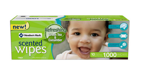 Member's Mark Scented Baby Wipes 1000 ct Tissue Refill