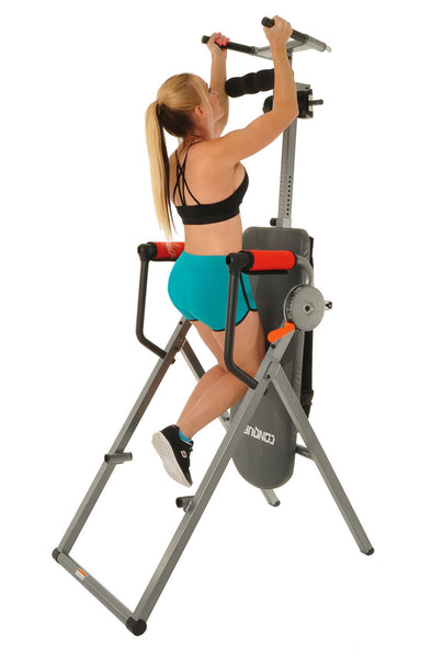 Conquer 6-in-1 Inversion Table Power Tower Exercise Strength Training Workout