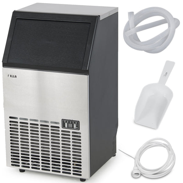 Stainless Steel Commercial Ice Maker 100LB/24hr