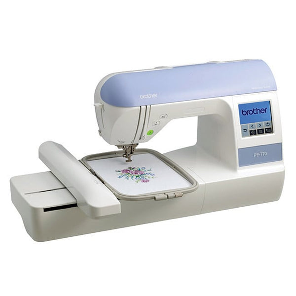 Brother PE770 Embroidery Machine Computerized Portable Sewing with USB Fonts NEW