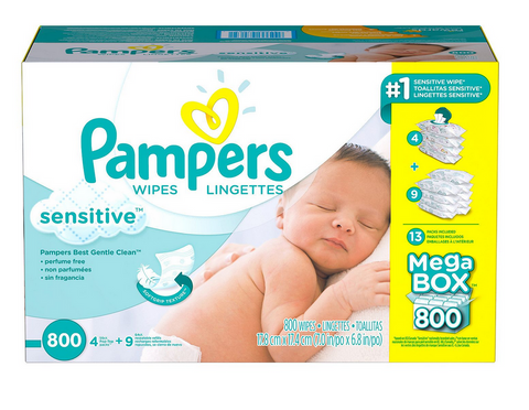 Pampers Sensitive Baby Wipes 800 ct Tissue Refill