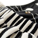 Casual Baby Girl Cat Dress Black White