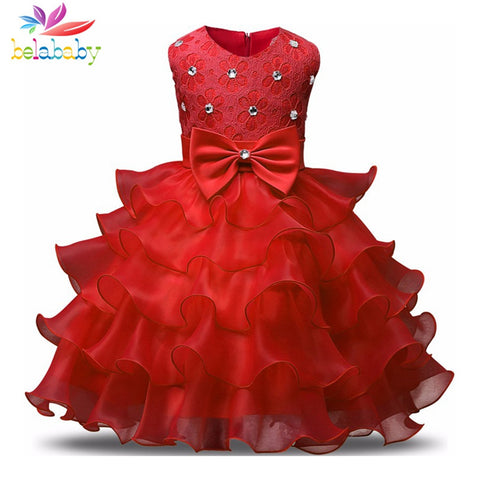 Princess Girl Dress Children Sleeveless TUTU Formal Attire