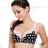 Dotted Cotton Nursing Bra - Cup Size B / C