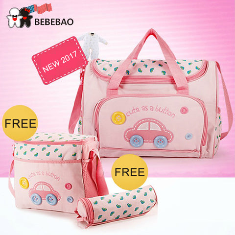 4 PCS/SET Diaper Bag Fashion multi functional large capacity Waterproof Nappy Bags Mommy