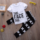 This Face Tho Boys 2 Piece Shirt + Pant Kids Set