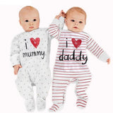 Cute I love Mummy and Daddy Newborn Unisex Baby Rompers