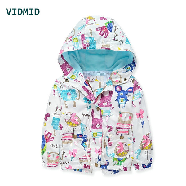 Baby girls jacket casual hooded outerwear girls coat winter kids clothing children jackets