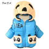Baby Boy Coats For Winter 4 Color Panda Warm Girls Boy Kids Jackets Coat Cotton Padded Boy Children Clothing Outwear