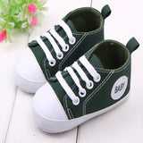 Fashion Infant Toddler Newborn Shoes Sports Sneakers Soft Bottom Anti-slip T-tied First Prewalker