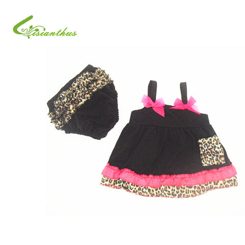 Baby Girl 2pcs Clothing Set Ruffle Bloomers + Cute Vest T-shirts Toddler Cotton Clothes