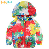 Children's Outwear Kids Camouflage Sun Protection Hooded Jackets Zebra Zipper Clothing For Toddlers