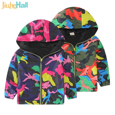 Spring/Autumn Boy and Girls Outwear Children's Hooded Jackets Windbreaker