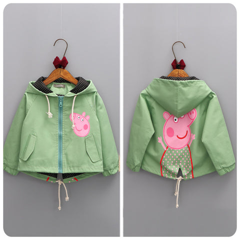 Girls clothing Spring & Autumn cartoon  Coats baby girls outerwear kids brand name sport