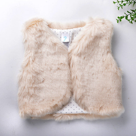 Sleeveless Faux Fur Baby Vest