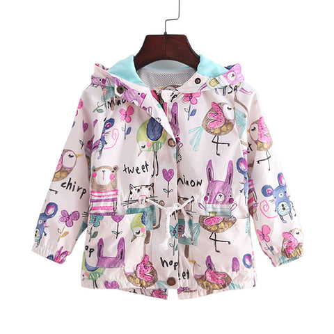Colorful Animal Kids Jacket with Hood