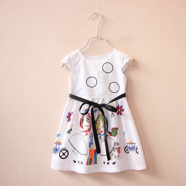 Girls Dresses Summer 2016 Brand Kids Dresses for Girls Clothes 100% Cotton Sleeveless Princess Dress Girl Vetement Fille 2-8Y