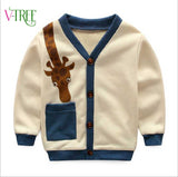 NEW spring children jackets for boys baby boys cardigan cotton cartoon kids tops out wear children coat brand clothes 1-6 year