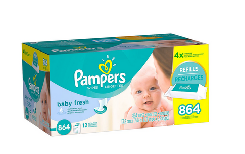 Pampers Baby Fresh Baby Wipes 864 ct Refill Tissue Scented