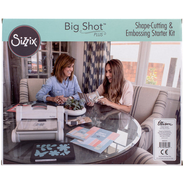 Refurbished Sizzix Big Shot Plus Starter Kit Machine Cutter Crafts Die Scrap Booking Photo