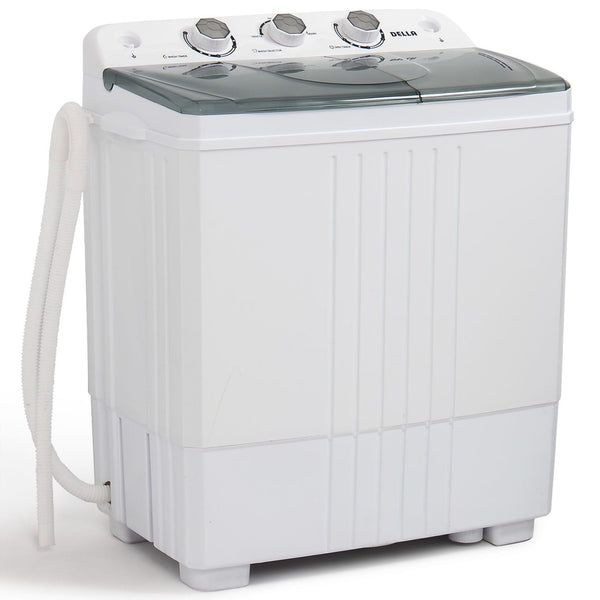 Portable Washing Machine Compact Twin Mini Tub 11lb Washer Spin Dryer Easy White