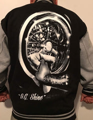 """OG Shine"" Baseball Jacket Black"
