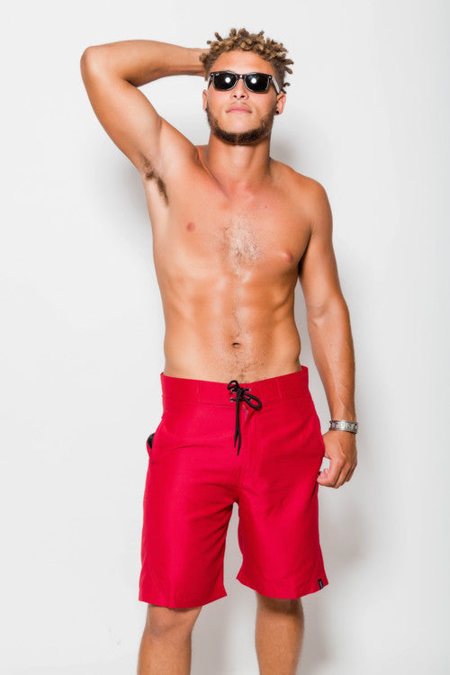 "Mens Nate 21"" Classic Red Boardshorts"