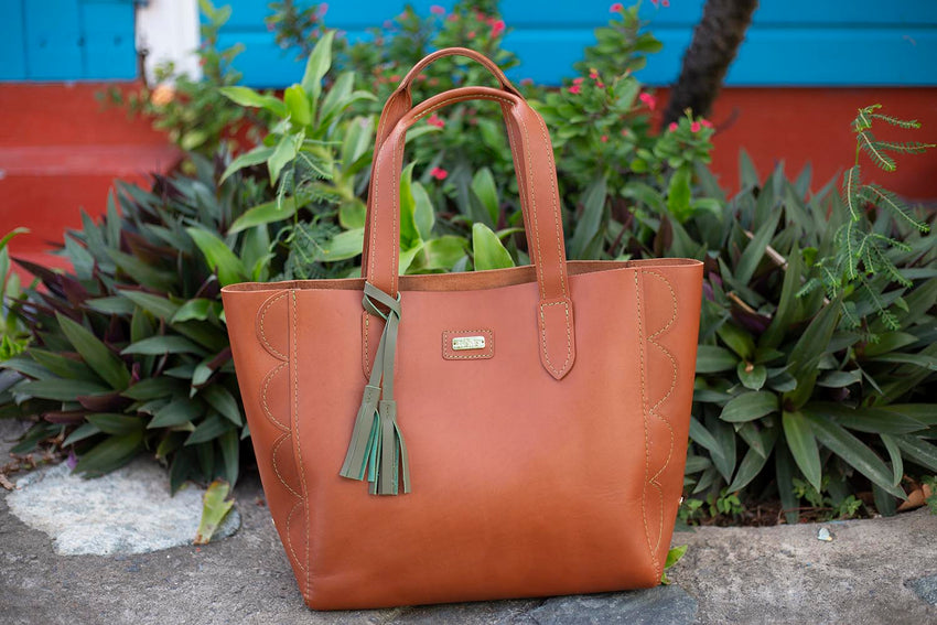 Janice Leather/Suede Tote