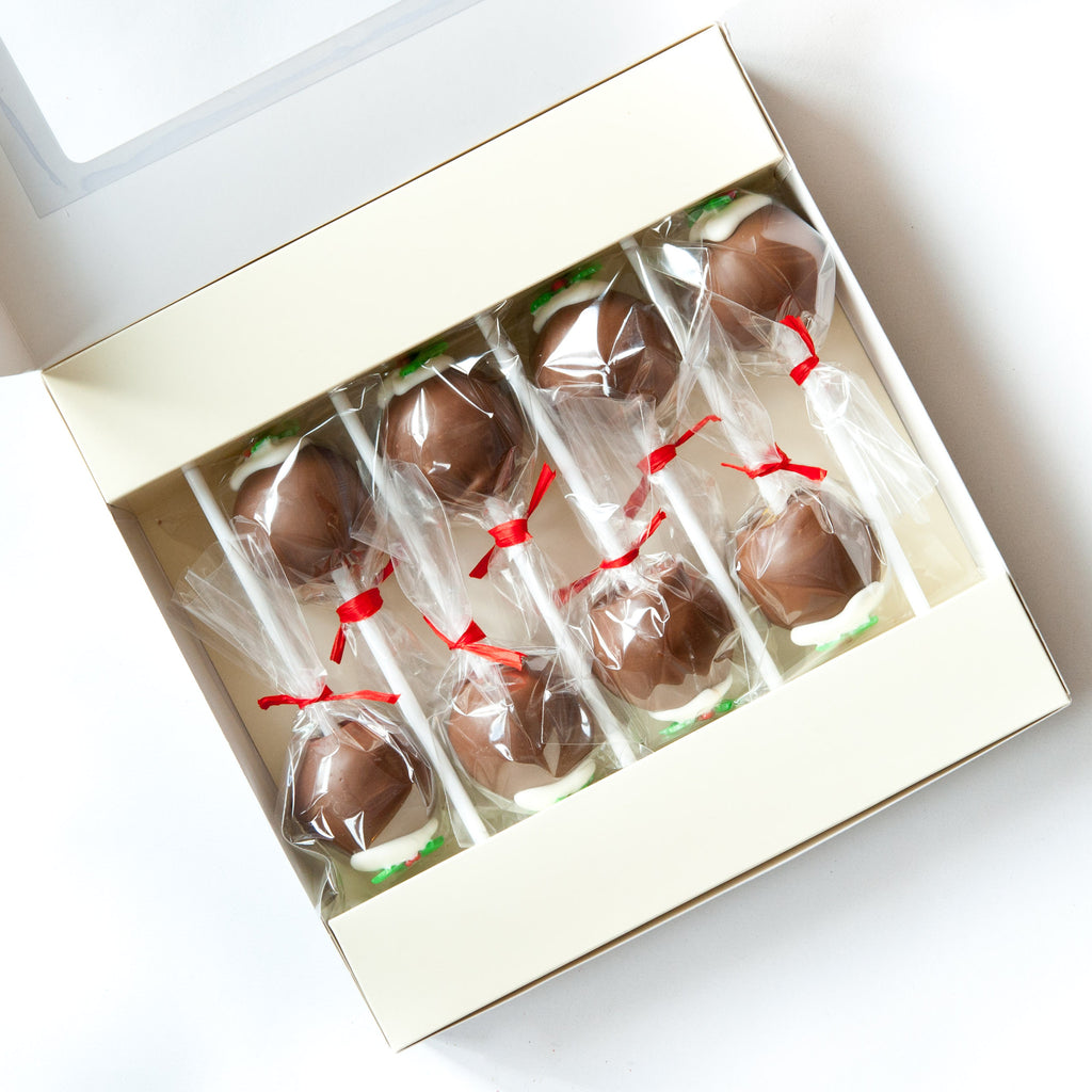 8 Christmas Pudding Cake Pops