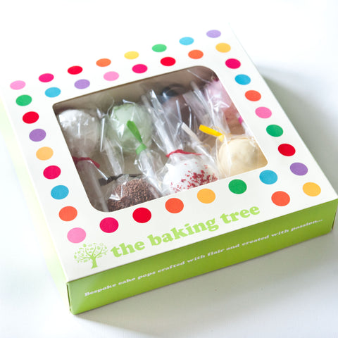 Gift Box of 8 Personalised Happy Birthday Cake Pops