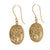 medallion earrings SILVER AND gold PLATED