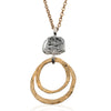 Pure for God Double Hoop Pendant Necklace