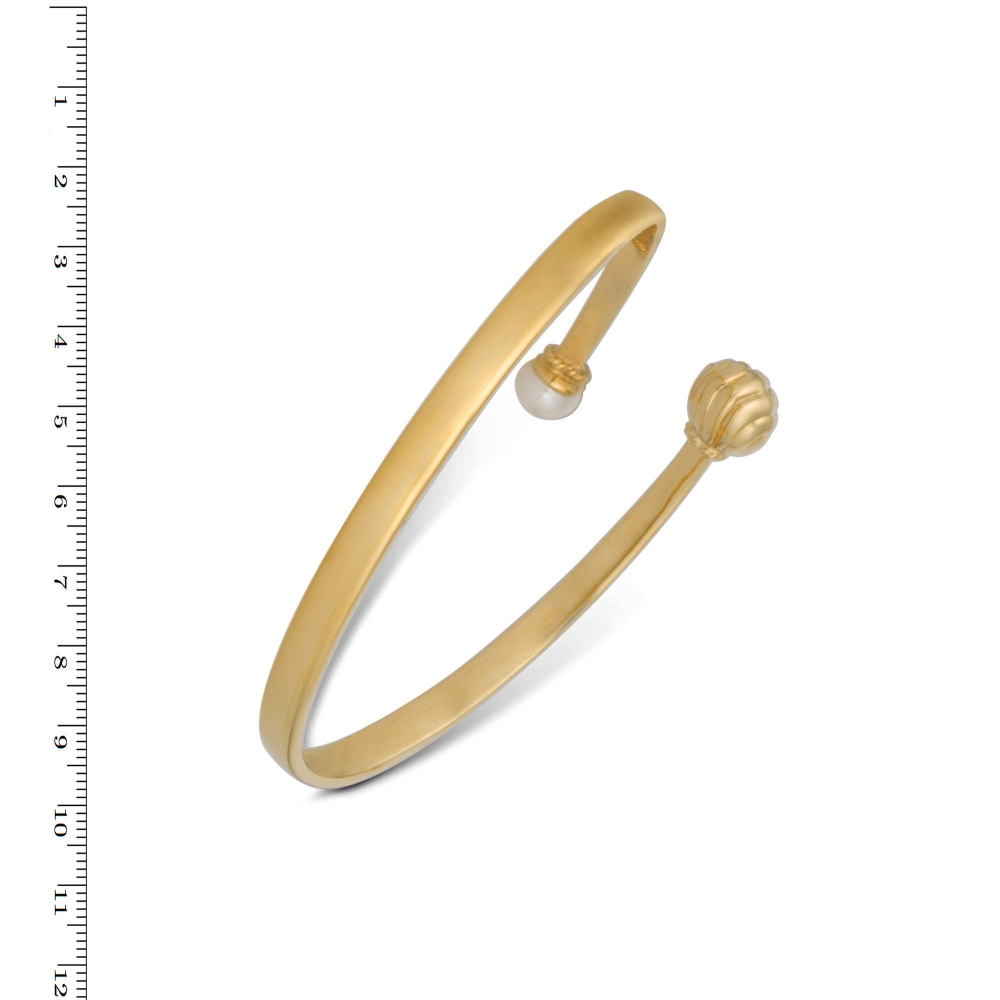Golden Bell Bracelet gold plated  in Silver with Gold Plated Bell and Pearl