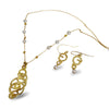 Golden Eternity Necklace with Pearls