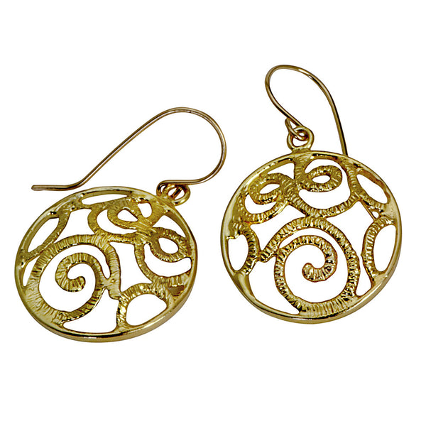 Golden Eternity Signature Earrings