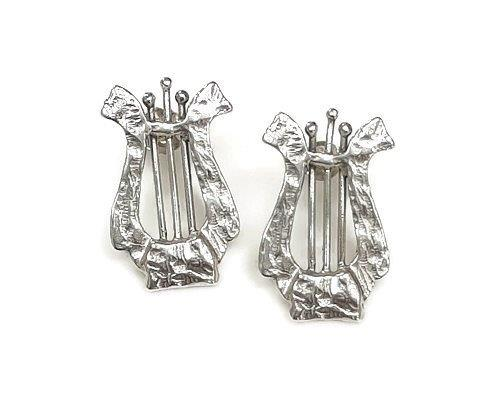 HARP earrings silver with roman glass