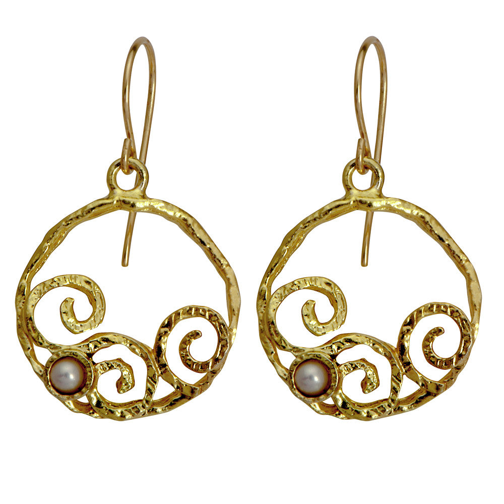 Golden Eternity Hoop Earrings