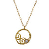 Golden Eternity Hoop Necklace