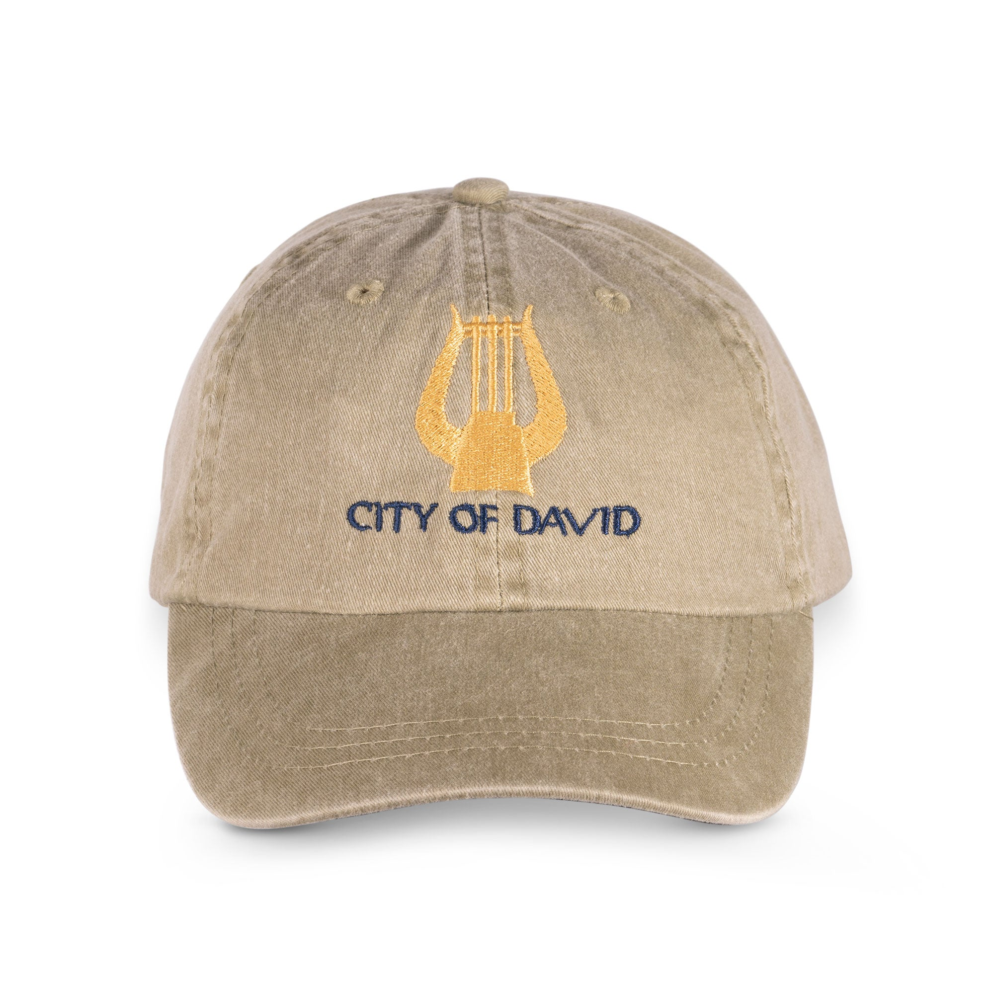 City of David  beige baseball cap