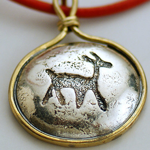 Gazelle Seal Leather Necklace