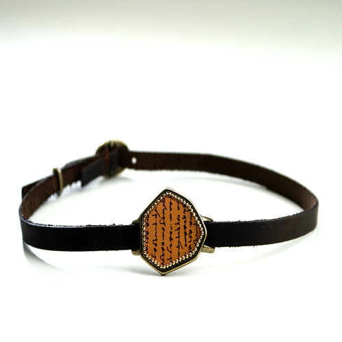 Brown Leather Shiloah Bracelet