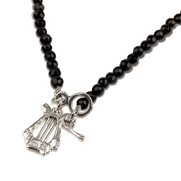 David's Harp Black Onyx Necklace.