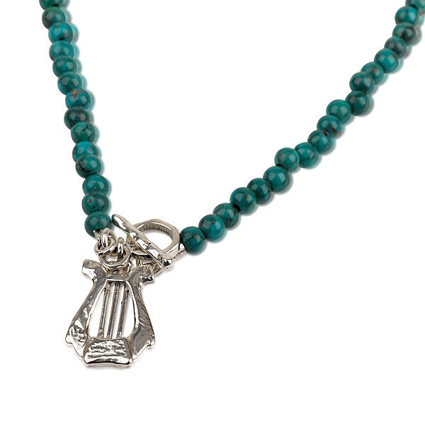 David's Harp Turquoise Necklace